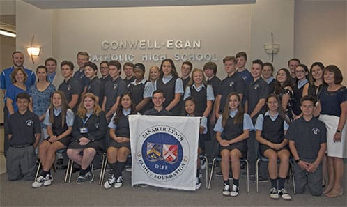 DLFF scholars at Conwell Egan High School